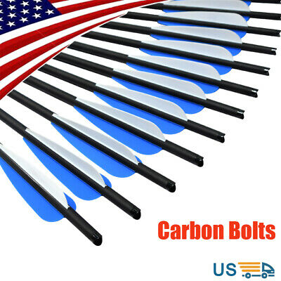 """Carbon Arrows Crossbow Bolts Outdoor Target Shooting Hunting Archery Bows 16-22"""""""