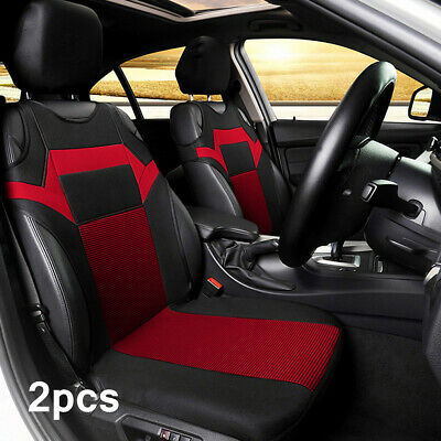 Black/Red Auto Seat Covers For Car Truck SUV Van Front Row Universal Protectors