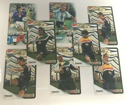 Set of 8 Rare Item Collectible Thailand Used Phonecards Phone Card Football