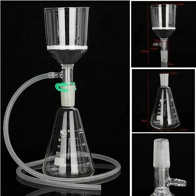 500ml 24/40 Joint Suction Filtration Equipment Kit Buchner Funnel Conical Flask
