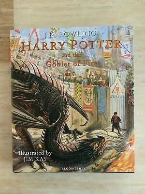 Signed Harry Potter & The Goblet Of Fire (Illustrated) Jim Kay First Edition 1st