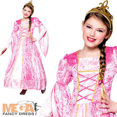 Royal Princess Rosanna Girls Fancy Dress Fairy Tale Kids Book Day Costume Outfit