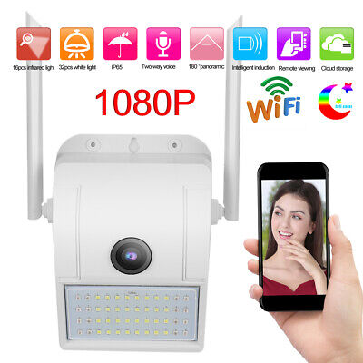 1080P Wifi Camera IP66 Waterproof Security Wall-Mounted With LED Sense Light