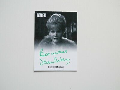 THE AVENGERS COMPLETE COLLECTION Autograph Card Jennie Linden AVJL2 (Green)