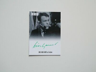 THE AVENGERS COMPLETE COLLECTION Autograph Card William Gaunt  AVWG2 (Green)