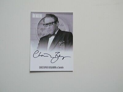THE AVENGERS COMPLETE COLLECTION Autograph Card Christopher Benjamin AVCB1 (Blk)