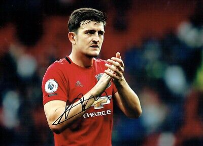 Harry MAGUIRE Signed Autograph 16x12 Photo 2 AFTAL COA Manchester United Man Utd