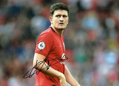 Harry MAGUIRE Signed Autograph 16x12 Photo 3 AFTAL COA Manchester United Man Utd