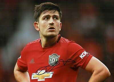 Harry MAGUIRE Signed Autograph 16x12 Photo C AFTAL COA Manchester United Man Utd