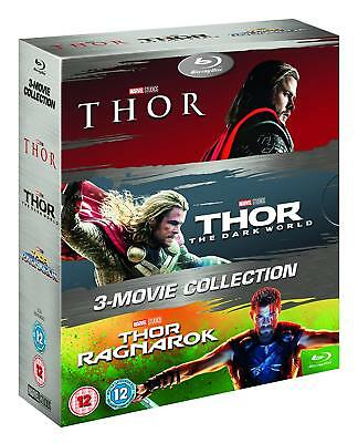 Thor Trilogy 1 2 3 Movie Collection Boxset Blu Ray 3 Disc Boxset All Regions
