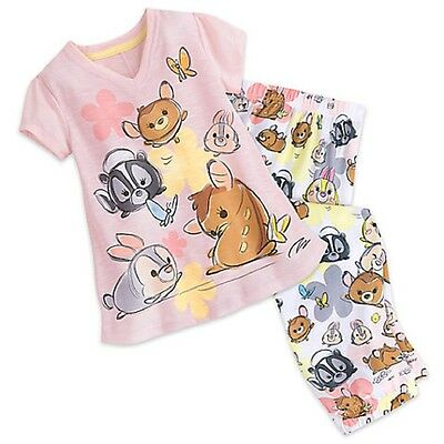 Disney Store Bambi and Friends Sleep Set for Tweens Girls PJ Pajamas New 2017