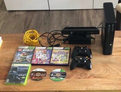 Xbox 360 console with 2 controllers, All Cables and 7 Games Included