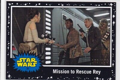 Topps Star Wars Journey To The Rise of Skywalker card #36 Black Parallel 189/199