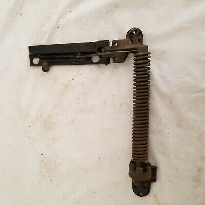 Antique Adjustable Cast Iron Spring Closer Hinge for Sewing Machine, door, lid