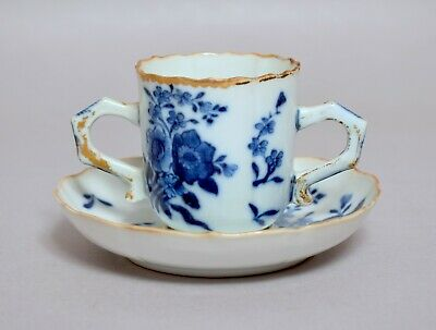 An Unusual Antique 18Thc Chinese Porcelain Trembluese Tea Coffee Cup Saucer