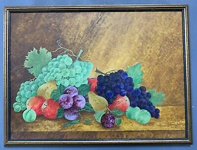 Large Antique French Oil On Board Painting In Gold Gilt Frame