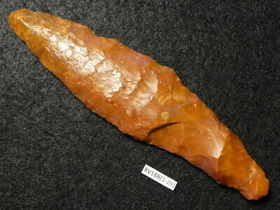 4400Y.O:WONDERFUL DAGGER 119mms LANCET SHAPED DANISH STONE AGE NEOLITHIC FLINT