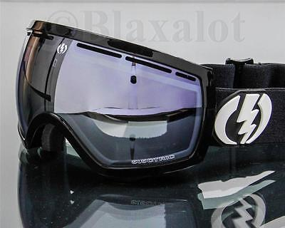 ELEKTRISCH EG2.5 GOGGLES Gloss Black / Blue Silver Chrome Mirror Lens Ski Snow