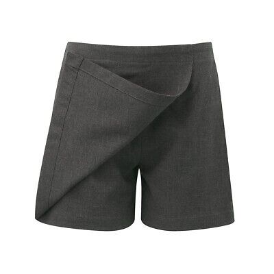 NEW GIRLS EX N8XT DARK GREY ELASTICATED SCHOOL SKORT / CULOTTES Age 4-12 GSK2