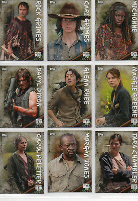 The Walking Dead Season 6  - 20 Card Character Chase Set EX Topps 2017