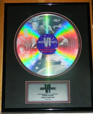 Star Trek VI Movie Limited Ed Num Laser Etched Disc Framed and Matted NEW BOXED