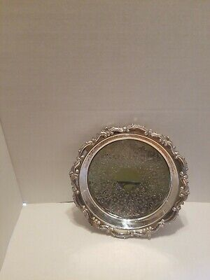 """EPCA Bristol Silver By Poole 85 12"""" Platter With Legs"""