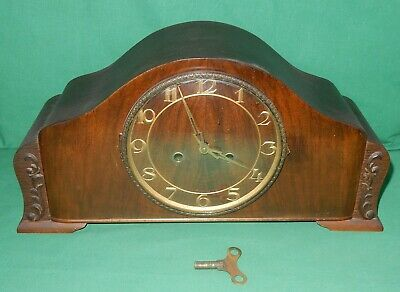 Mantel Cabinet Clock Watch with Gong Watchmaker Drechsler Marienberg Erzgebirge