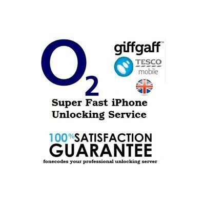 Unlocking Service Apple iPhone 7 &  7+ For O2 TESCO GIFFGAFF SKY UK