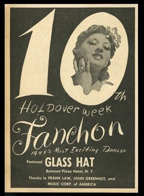 1944 Fanchon photo dance act vintage trade booking ad