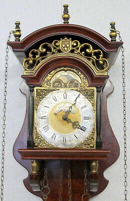 Old Wall Clock Friesian Dutch Saarland Clock Moonphase *Warmink Wuba*