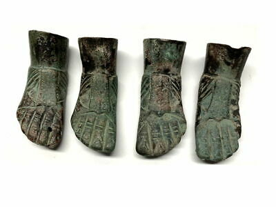 lot of 4 Ancient Roman Bronze Foots