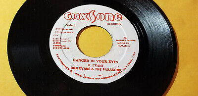"""THE PARAGONS - DANGER IN YOUR EYES  /REGGAE 7"""" on COXSONE LABEL RE"""