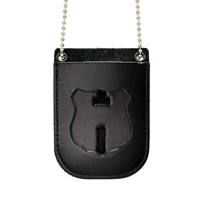 Perfect Fit RCMP Badge Belt Clip Holder Neck Chain Leather Canada Police
