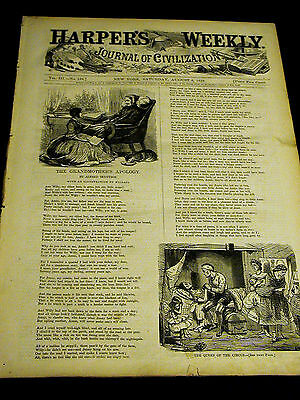 Harper's Weekly Aug 6 1859 INDIAN GRAVE IMAGES Country Picnic Seaside COCK FIGHT