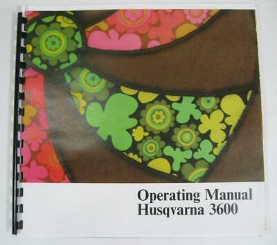Husqvarna Viking 3600 sewing machine operating/owners manual book (reprint)