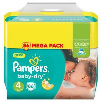 PAMPERS Baby-Dry Taille 4. 9-14 kg - 86 Couches - Mega Pack