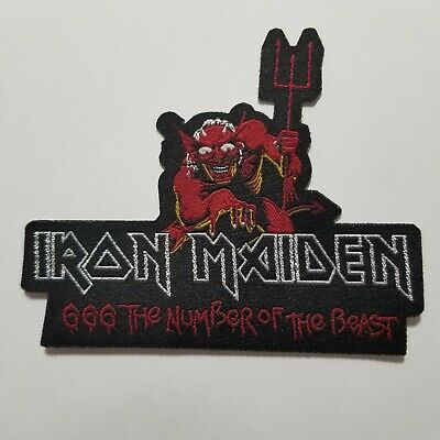 Iron Maiden 666 The Nunber Of The Beast Woven  Patch
