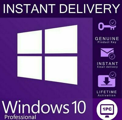 Windows 10 pro Professional 32/64 Bit ORIGINAL key Win 10 fast delivery by MAIL