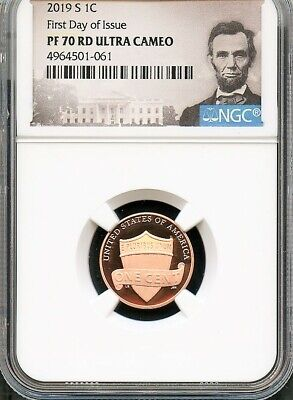 2019 S Lincoln Cent FIRST DAY OF ISSUE NGC PF70 RD U.C. **VERY LOW POP**