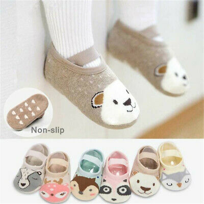 Toddler First Walkers Booties Baby Socks Infant Crib Shoes Cotton Floor Socks