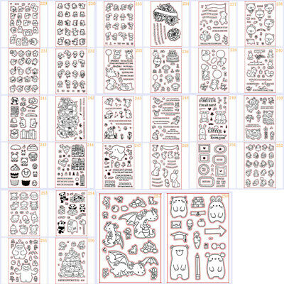 Clear Stamps Metal Cutting Dies Stencil For Diy Scrapbooking Paper Cards Crafts