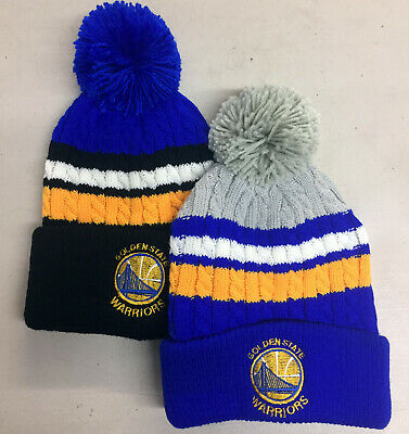 Golden State Warriors Beanie Skull Cap Hat  GS One Size Yellow Blue New!!