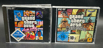 "PC SPIELE "" GTA Grand Theft Auto VICE CITY + SAN ANDREAS """