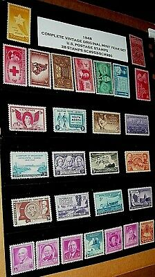 (Sc953-Sc980) 1948 Complete Vintage Mint Year Set Of 28 Stamps