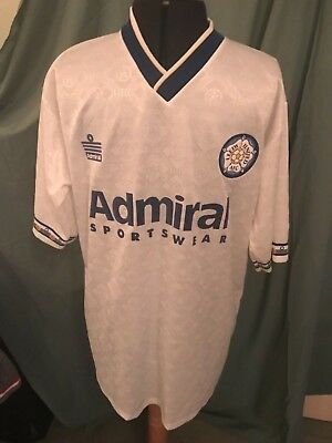 Leeds United FC Admiral retro shirt from 1992, Size 42/44 XL