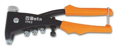 Beta Tools 1742 Riveting Pliers for Threaded Rivets + 4 Mandrels 250mm