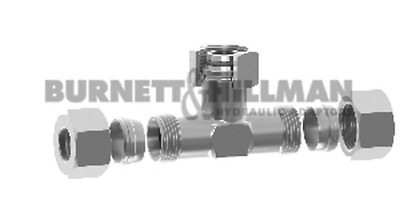METRIC Male/Male/Female Tee DKO (S Series) COMPLETE - Compression Fitting