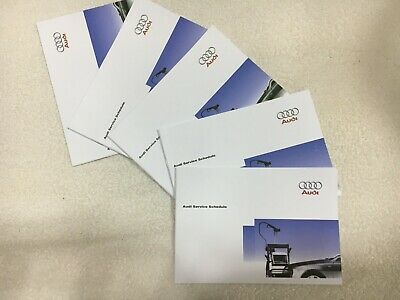Genuine Audi Service History Book brand new not duplicate all models covered