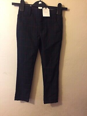 Next Smart Check Trousers  Age 5 Years Bnwt