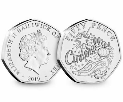 2019 CHRISTMAS PANTOMIME CINDERELLA  BUNC  50p Fifty Pence Coin , Low Mintage